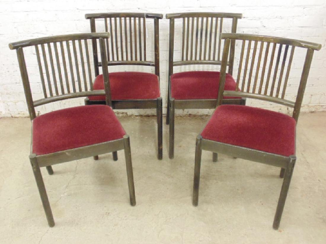 Set 4 Werther Toffolini mohair seat chairs