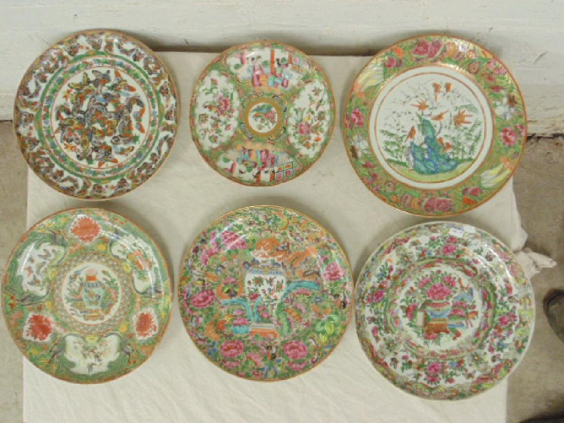 6 Asian Rose Medallion plates