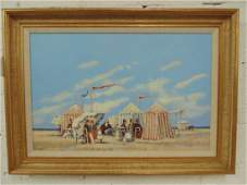 """Painting, """"A Perfect Sunday"""", signed Frederick McDuff,"""