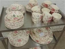 "Set dinnerware, ""Rose Chintz"", England by Johnson Bros"