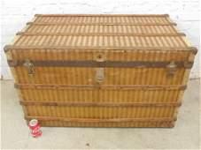Vintage steamer trunk by Fibre Specialty Company