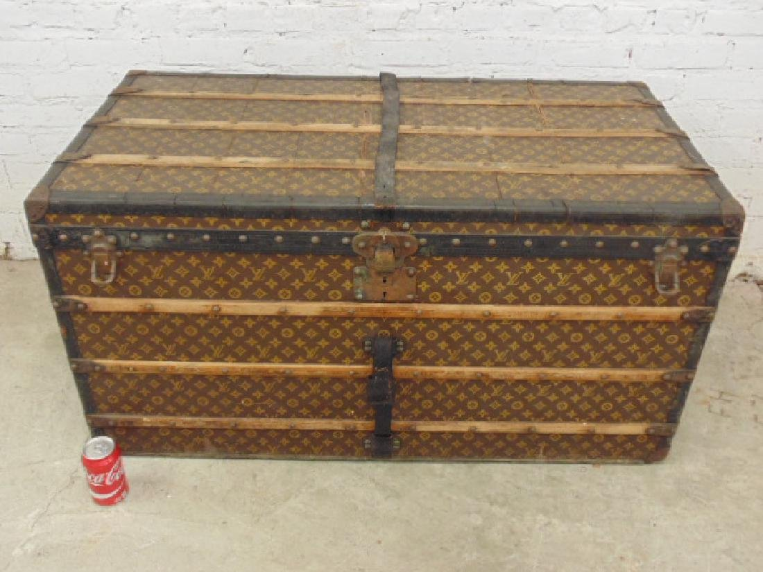 Louis Vuitton trunk, iron handles