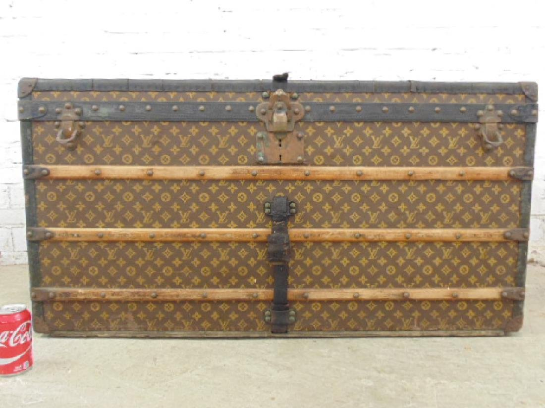 Louis Vuitton trunk, iron handles - 4