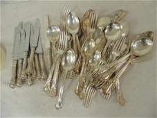 Set sterling silver flatware by Gorham service for 12