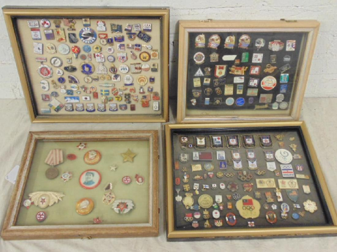 Collection pins & buttons, China, Mao, Olympic games,