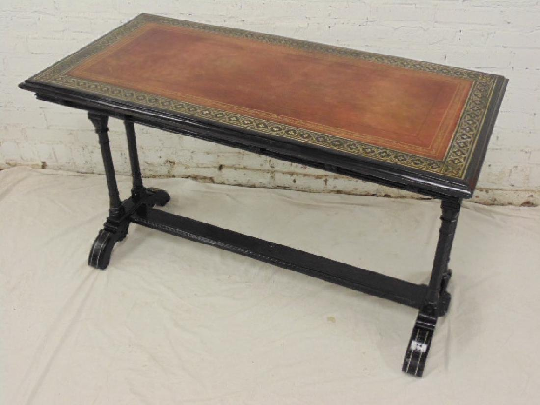 """Art Movement"" ebony, ebonized library style table"
