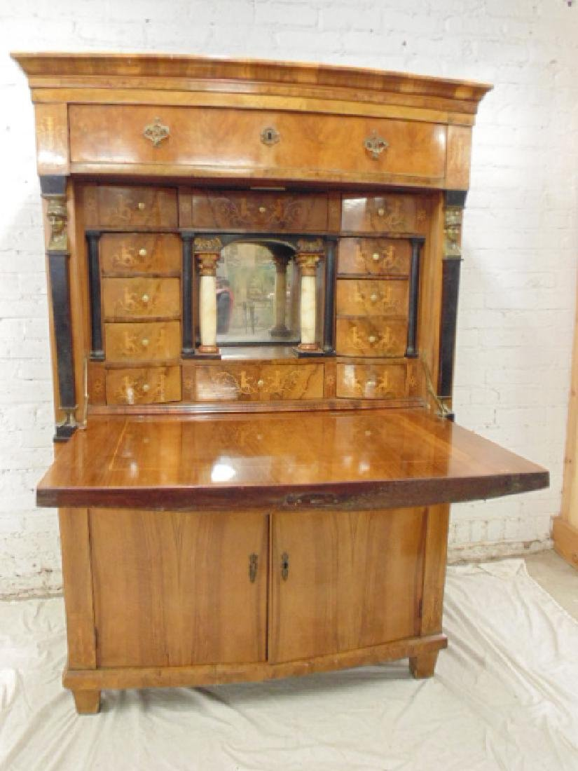 Biedermeier drop front desk, secretaire abattant