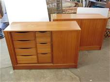 Pair Danish modern cabinets by Poul Hundevad