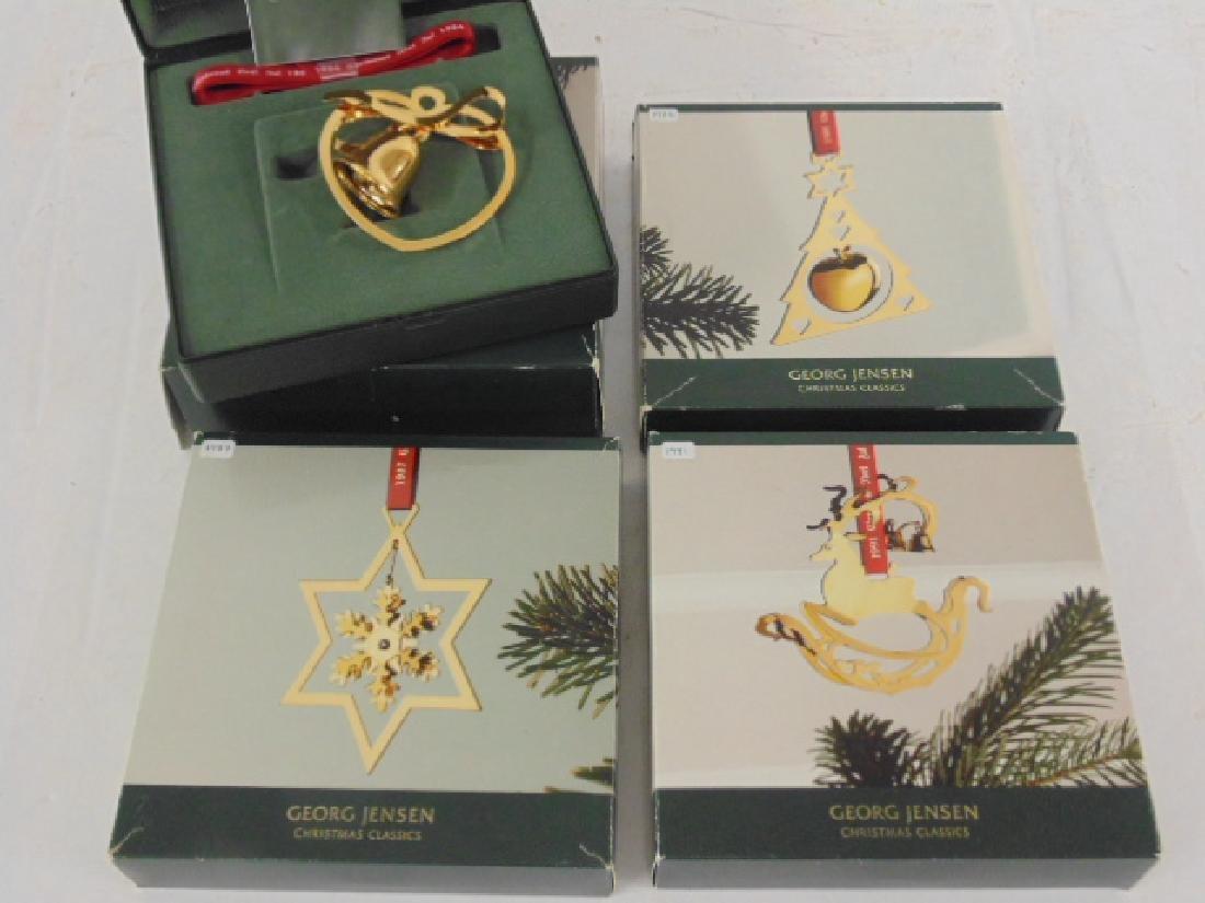 Lot 4 Georg Jensen Christmas ornaments