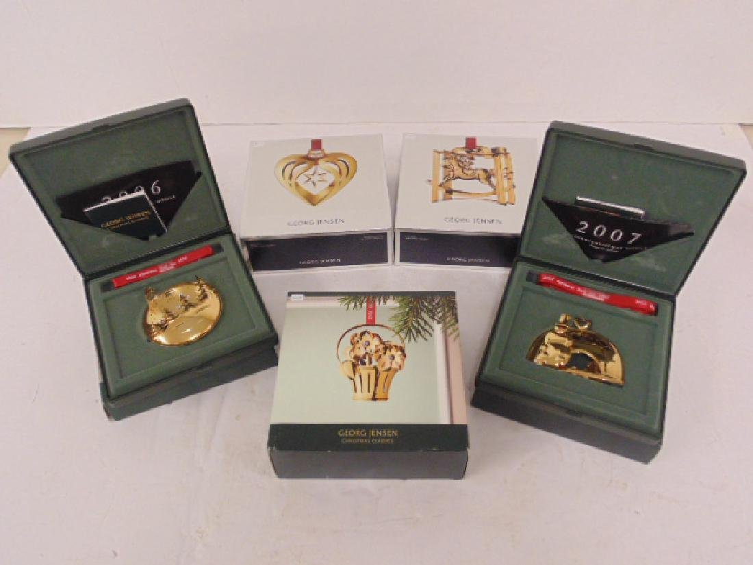 5 Georg Jensen Christmas ornaments