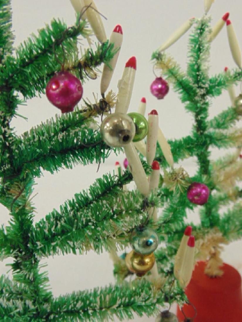 "Lot 4 miniature Christmas trees, 6.5"" tall - 4"