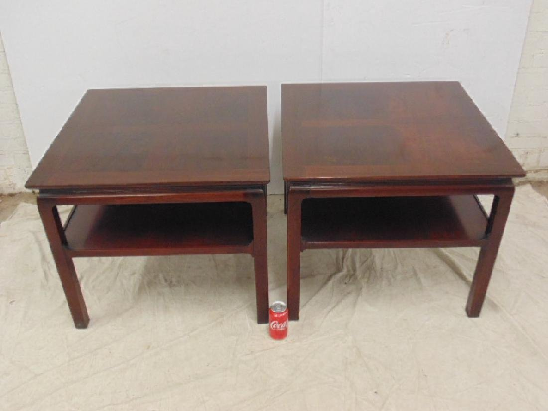 Pair mahogany end tables Heritage Henredon