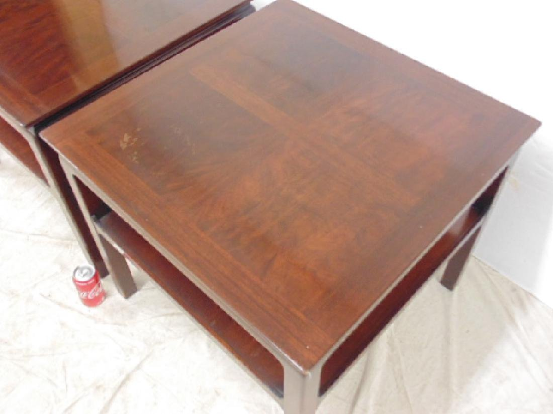 Pair mahogany end tables Heritage Henredon - 3