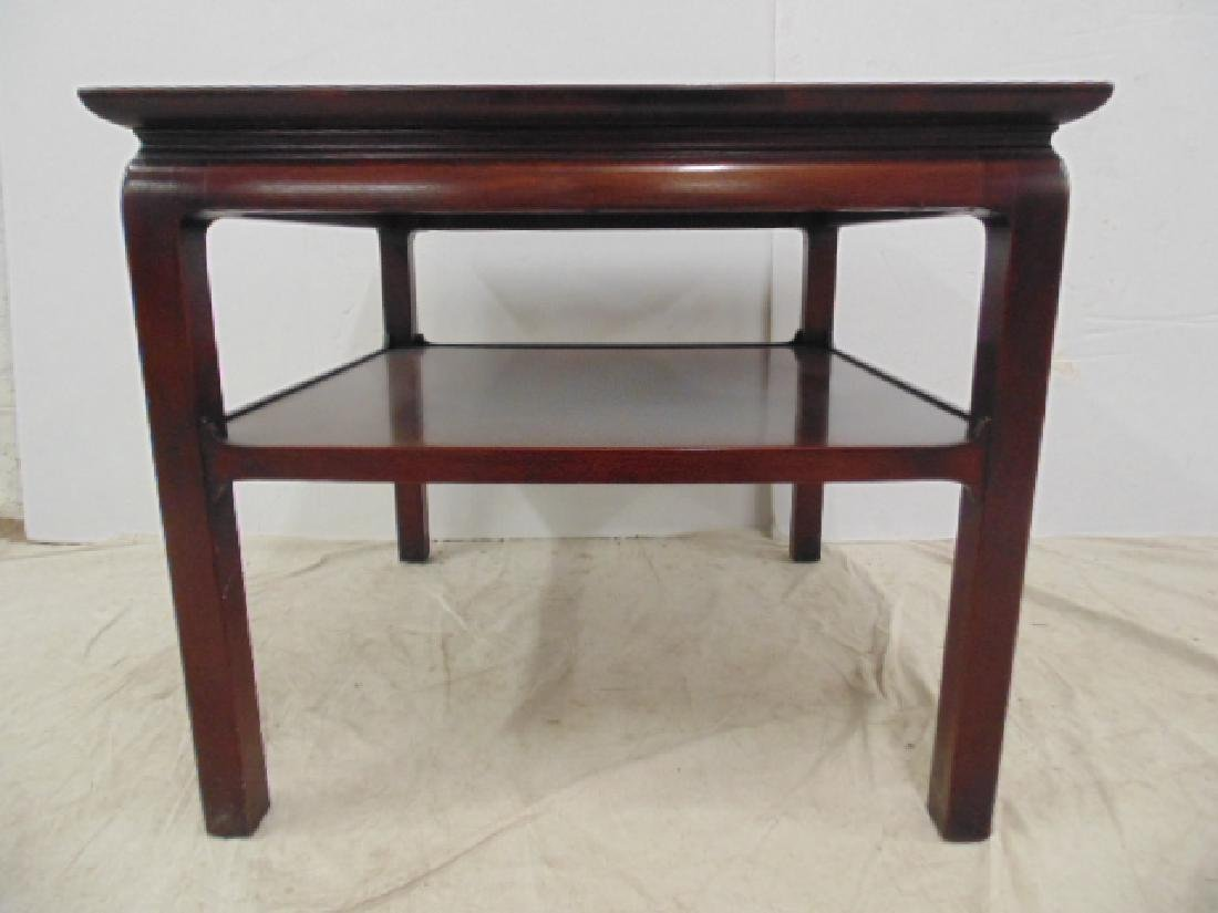 Pair mahogany end tables Heritage Henredon - 4