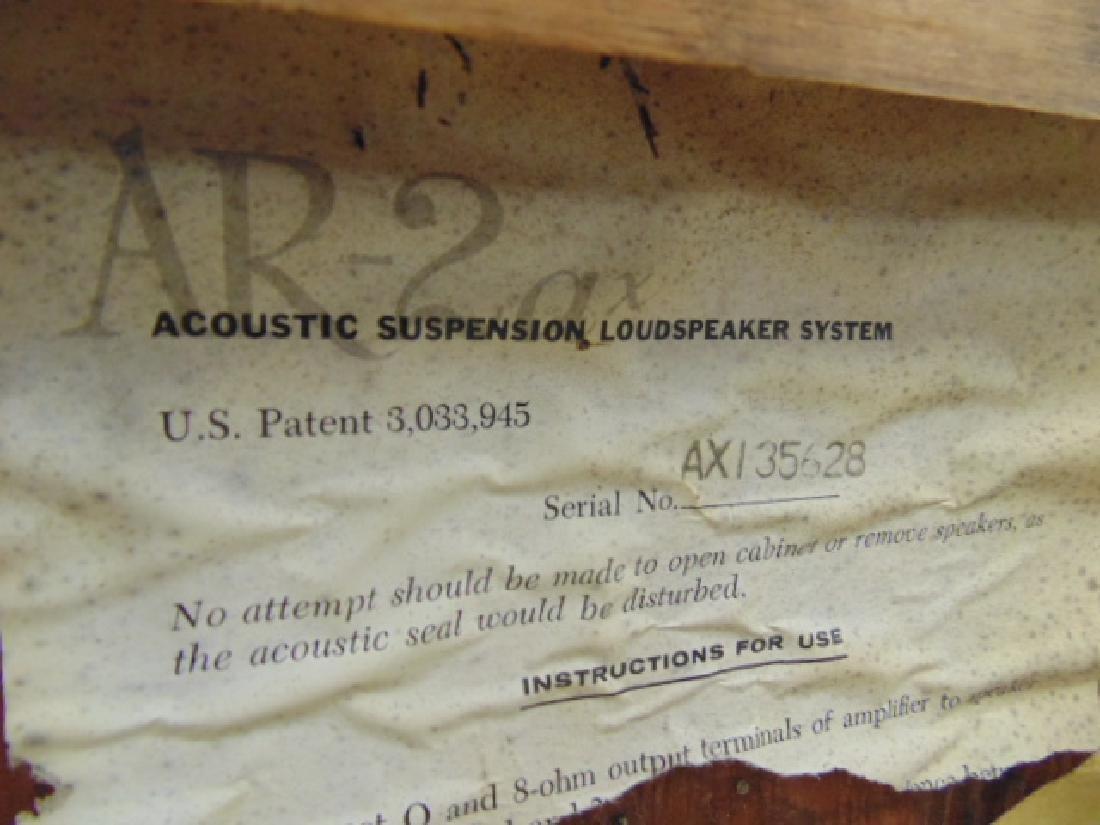 Pair AR 2ax acoustic & pair of XAM 3E loudspeakers, - 7