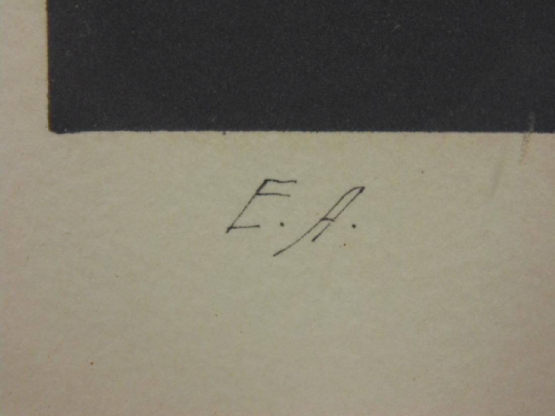 """Lithograph, figure, """"M.W. 76, signed Che Miaz Ine - 4"""