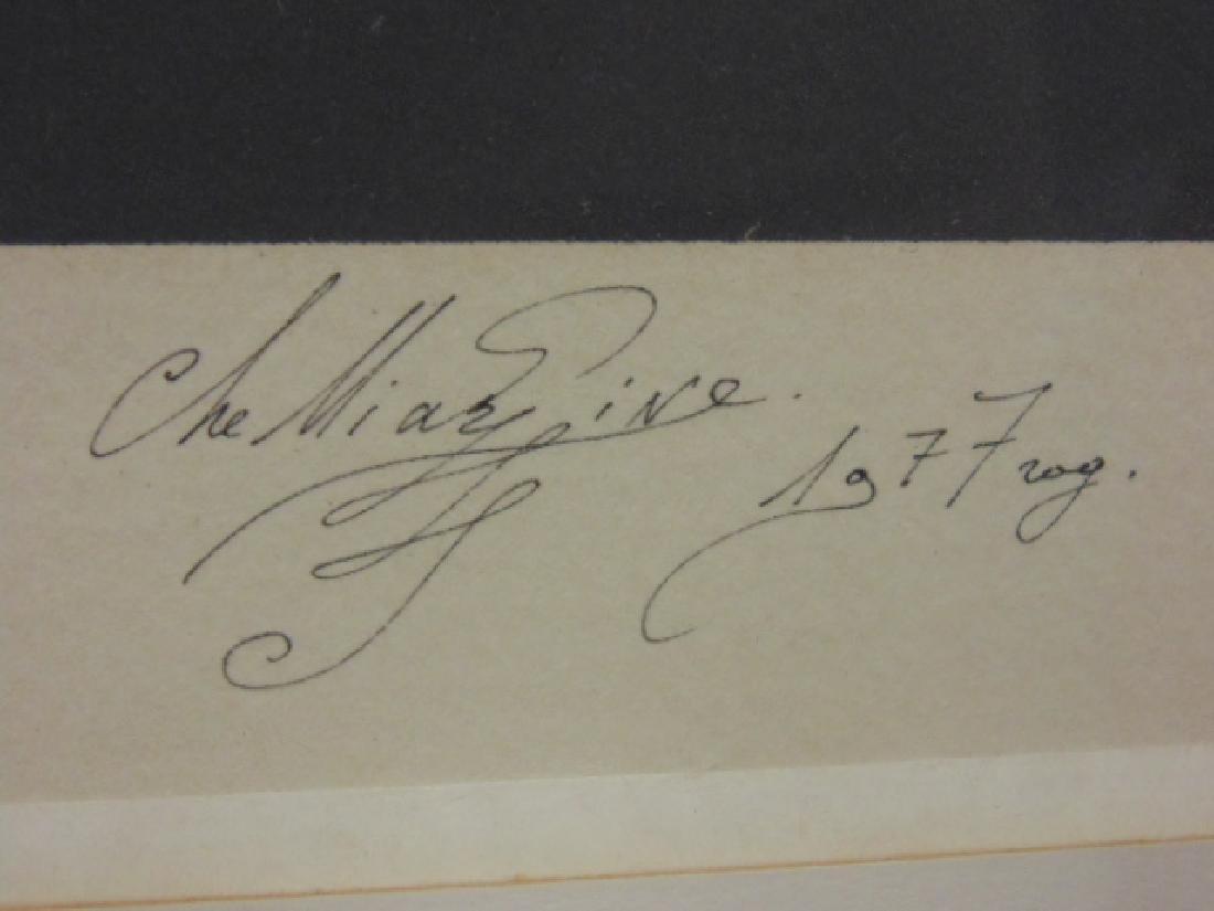 """Lithograph, figure, """"M.W. 76, signed Che Miaz Ine - 5"""
