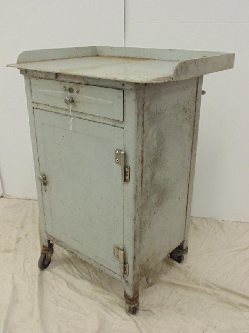 Industrial steel single door & drawer rolling cart - 2