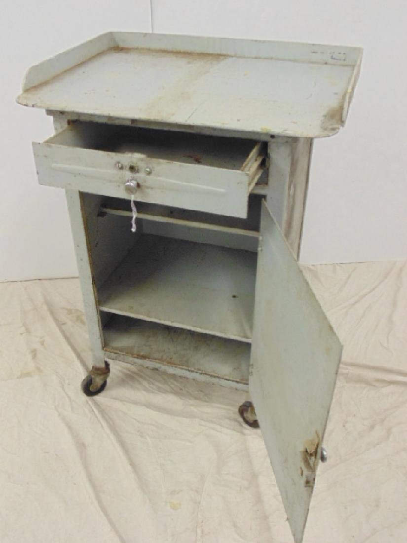 Industrial steel single door & drawer rolling cart - 3