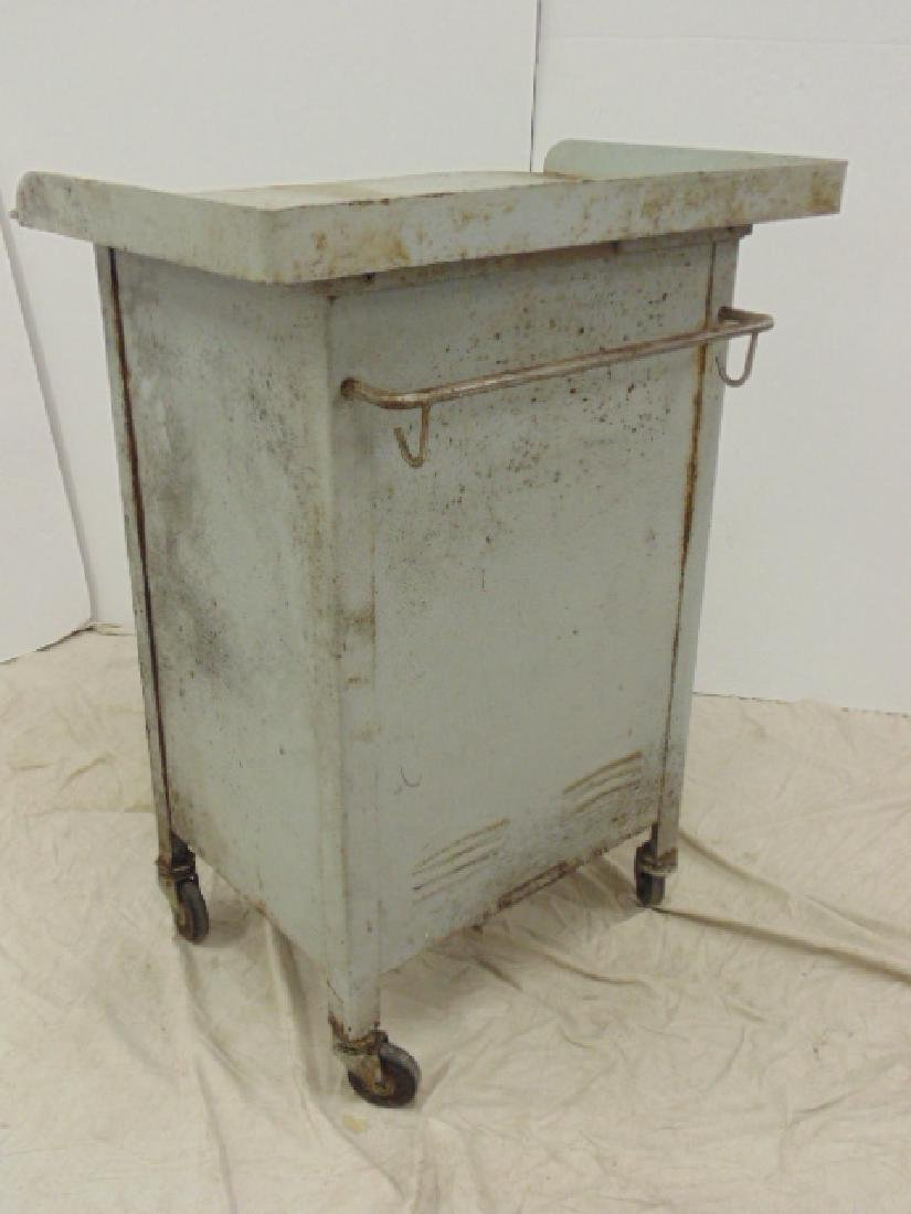 Industrial steel single door & drawer rolling cart - 4