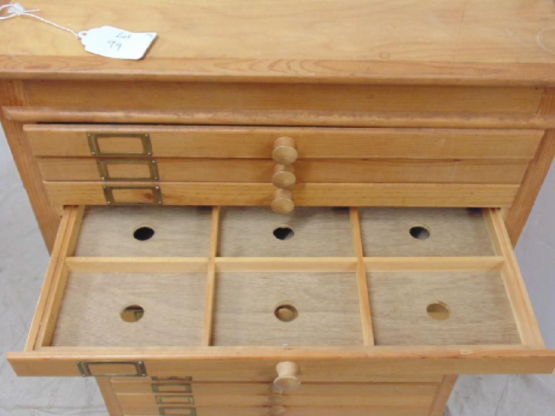 Maple file, specimen cabinet, cabinet has 18 drawers - 3