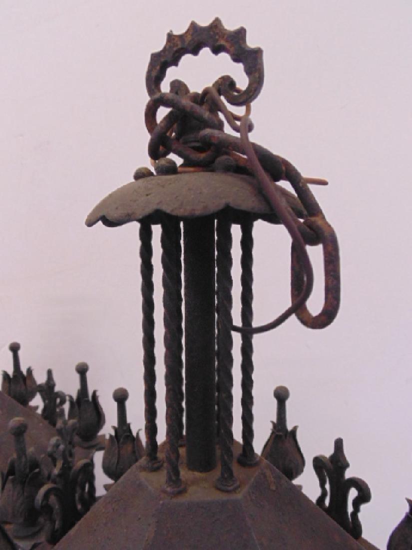 Pair iron lanterns, octagonal shaped - 4