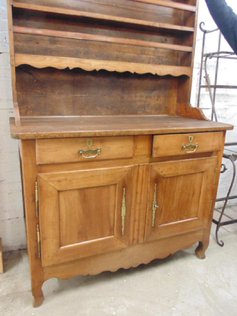 Antique French hutch, base cabinet with 2 drawers - 2
