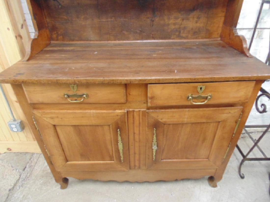 Antique French hutch, base cabinet with 2 drawers - 3