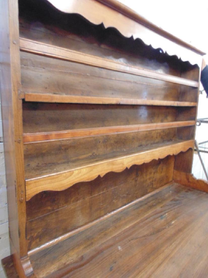 Antique French hutch, base cabinet with 2 drawers - 4