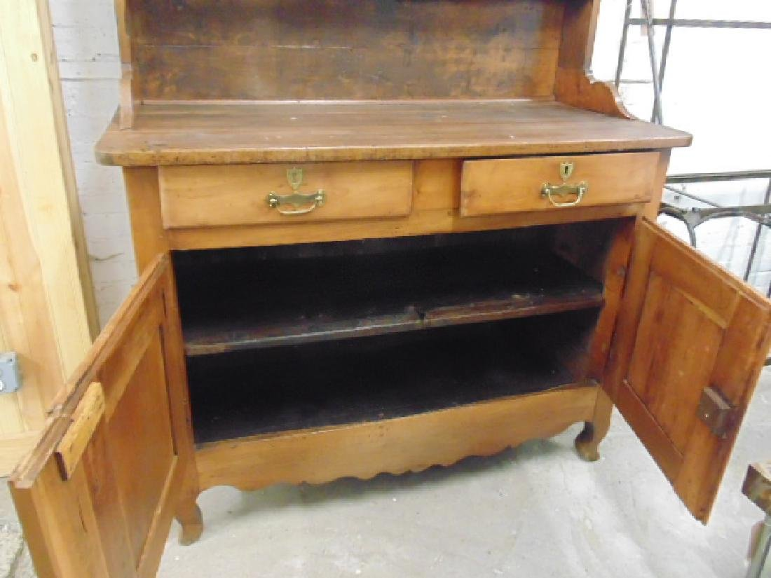 Antique French hutch, base cabinet with 2 drawers - 6