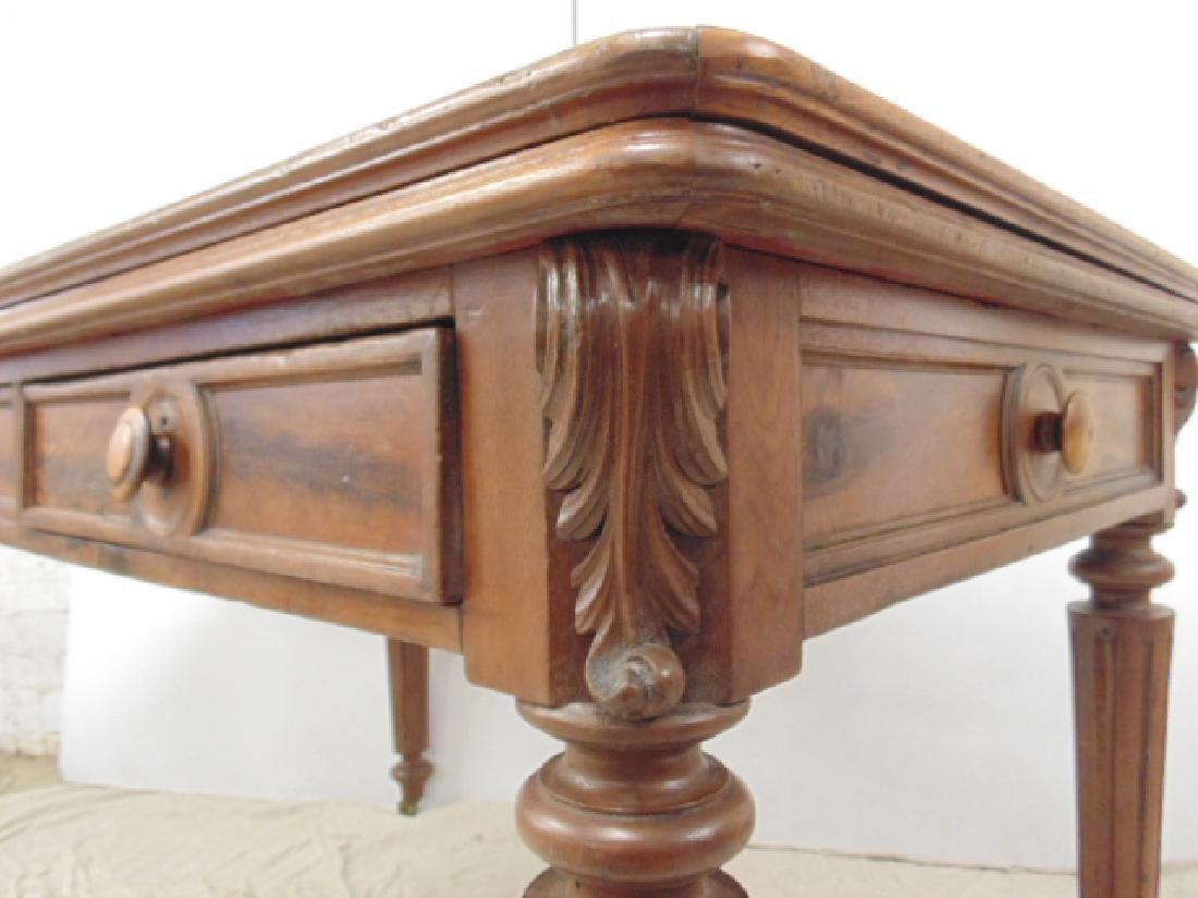 Victorian felt top partners desk - 4