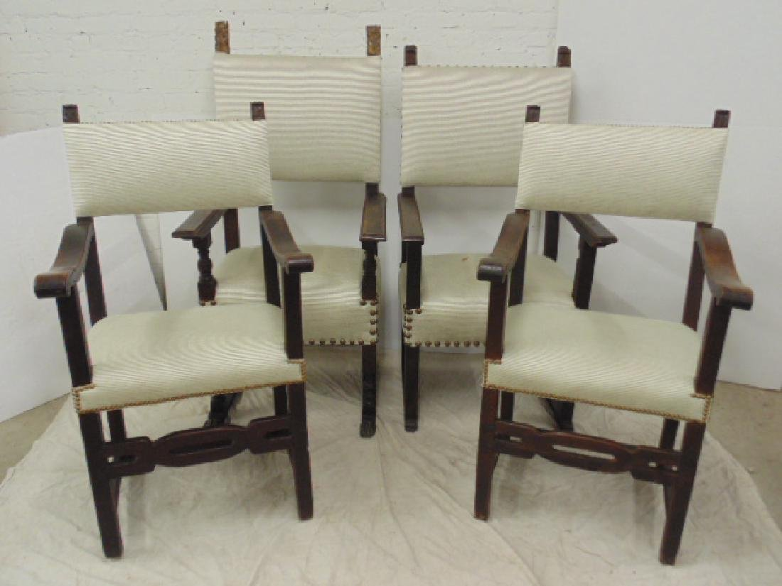 Lot 4 18th Century arm chairs