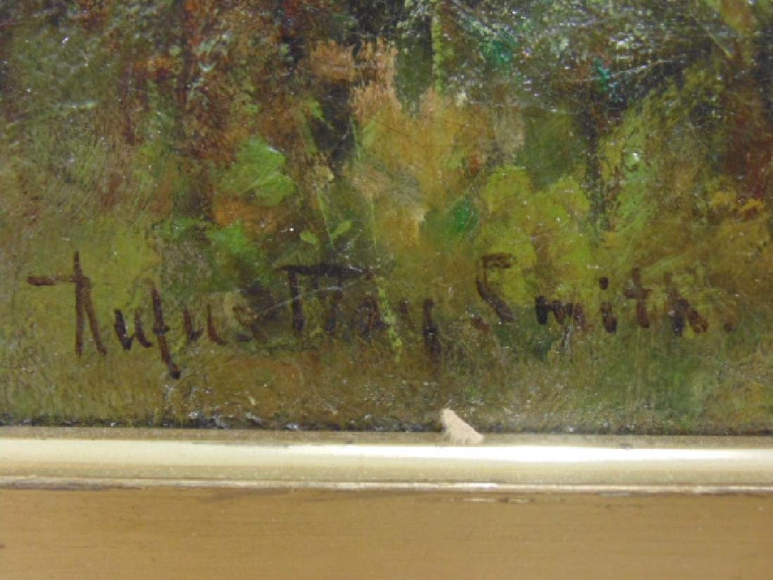 """Painting, """"Cows at a stream"""", signed Rufus Way Smith - 4"""