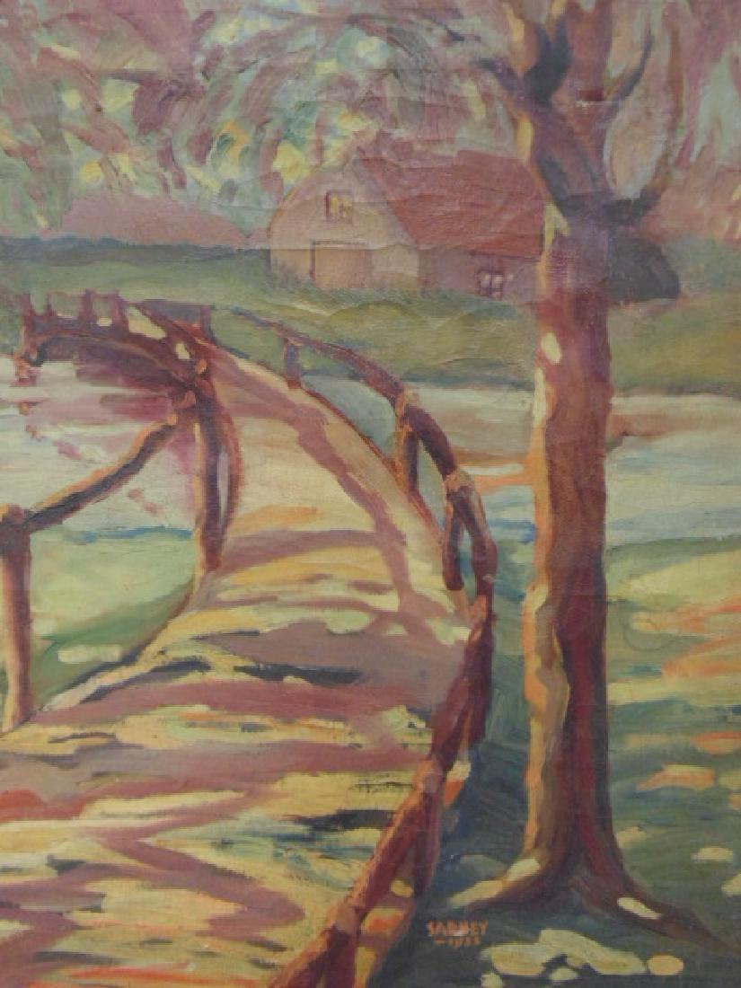 Painting, path, bridge over stream,  Sarney, 1933 - 3