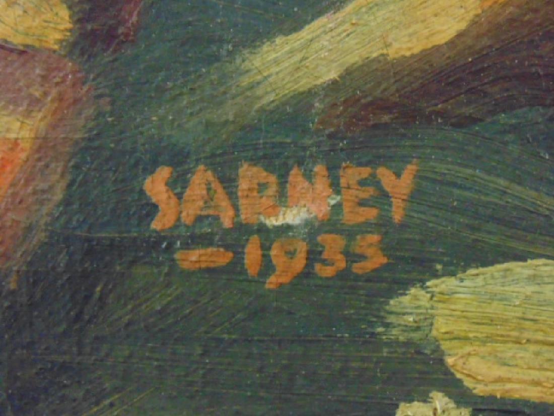 Painting, path, bridge over stream,  Sarney, 1933 - 4