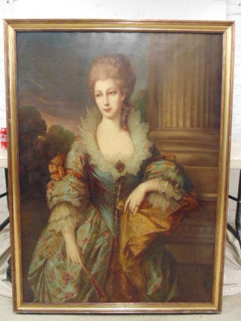"""Painting, """"portrait of a lady"""", after Gainsborough"""