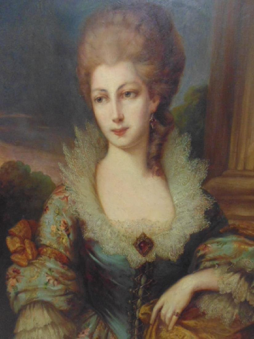 """Painting, """"portrait of a lady"""", after Gainsborough - 2"""