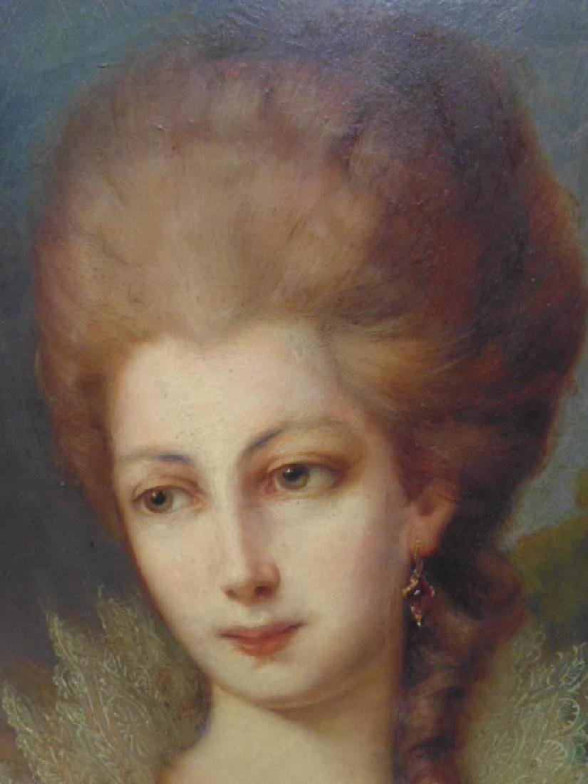 """Painting, """"portrait of a lady"""", after Gainsborough - 3"""