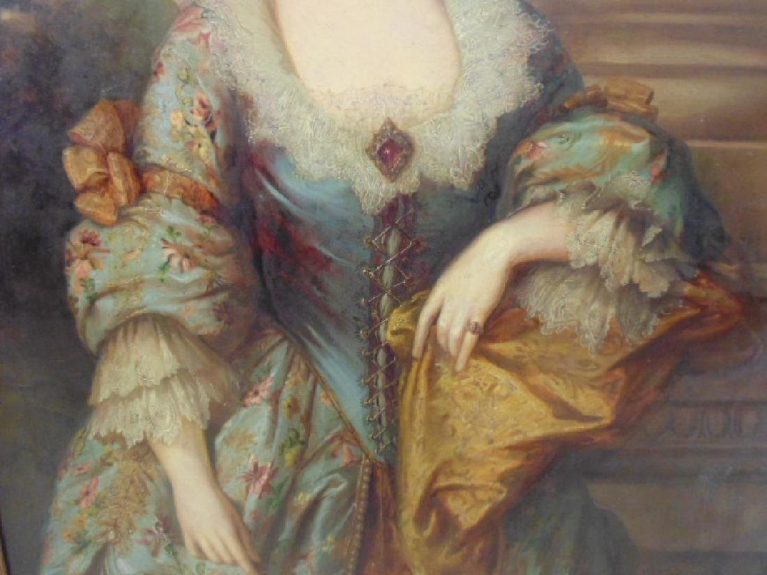 """Painting, """"portrait of a lady"""", after Gainsborough - 4"""