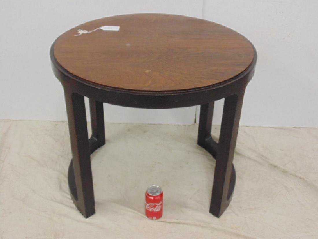 Round Mid Century side table by Dunbar