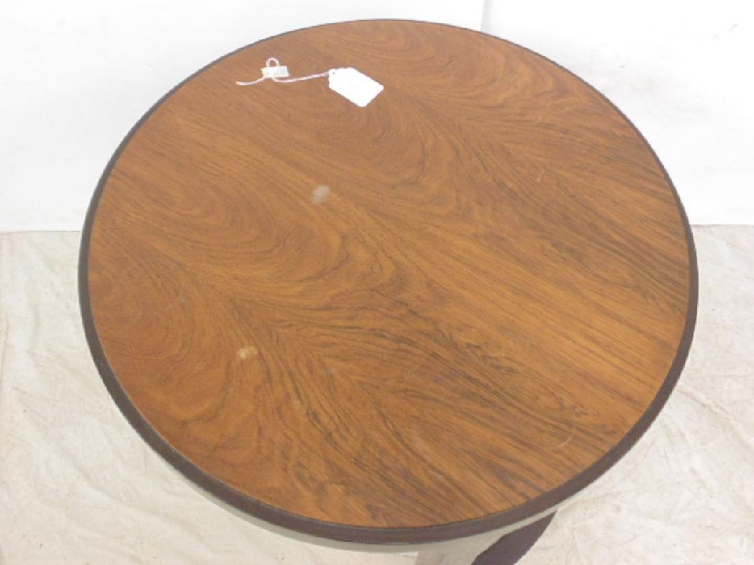 Round Mid Century side table by Dunbar - 3