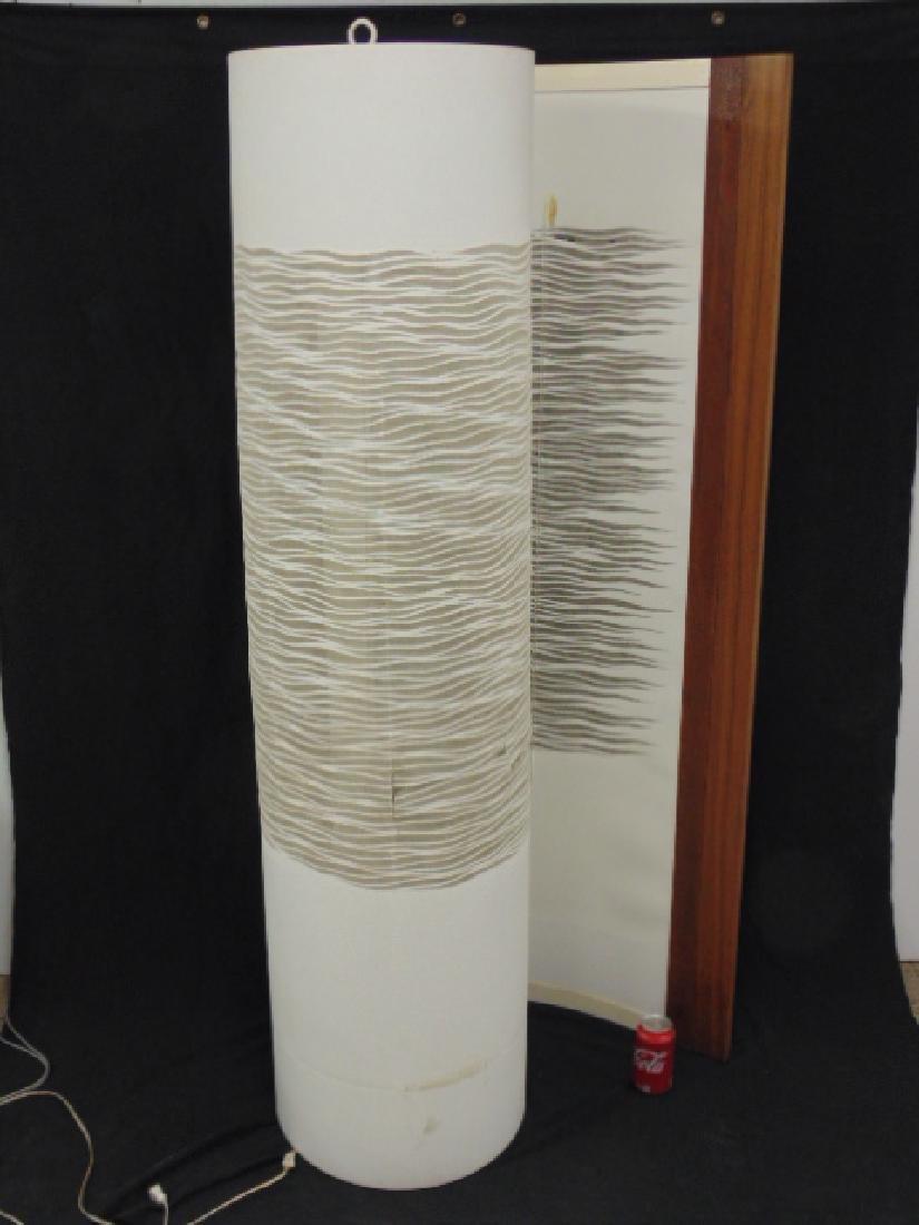 Designer floor lamp, organic spiral form, Lucite,