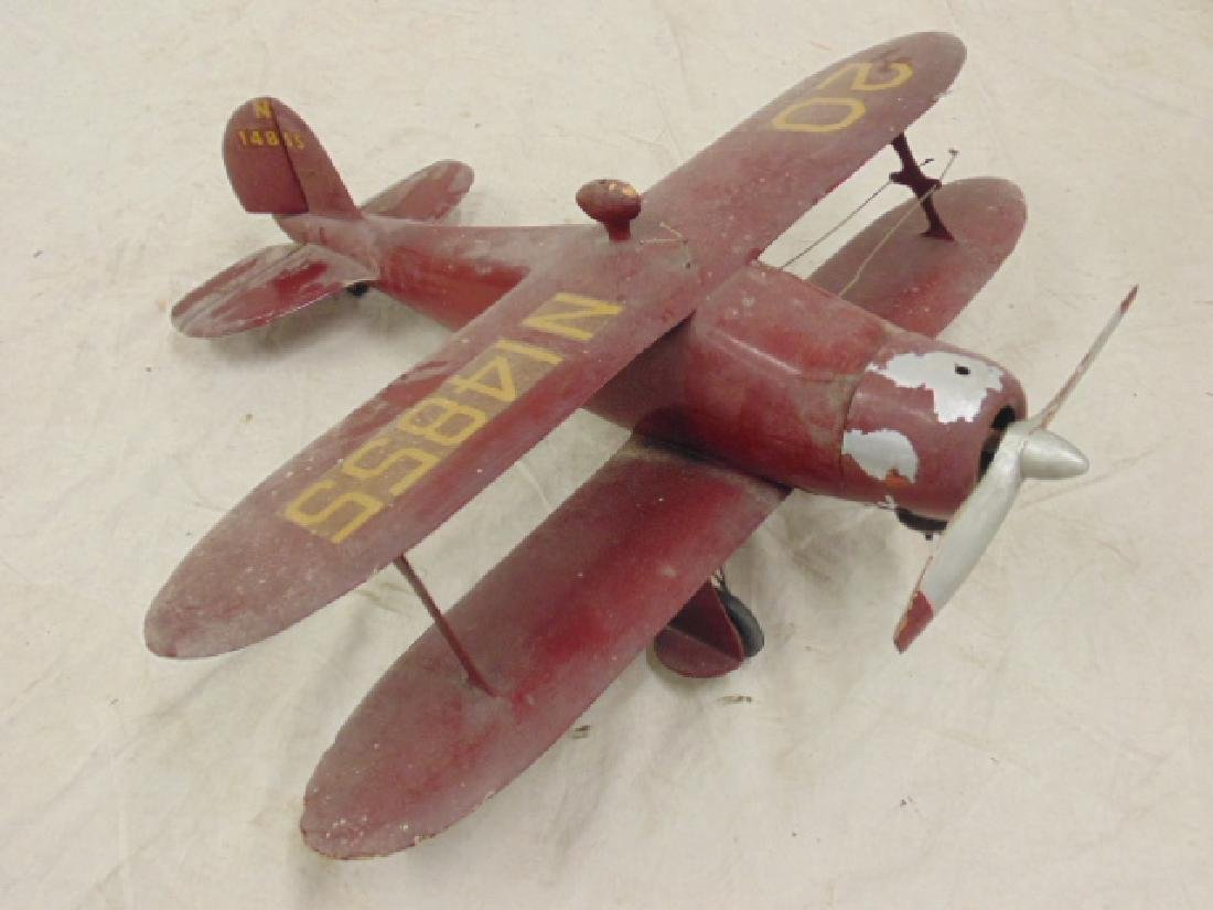 2 model airplanes,  biplane with engine - 2