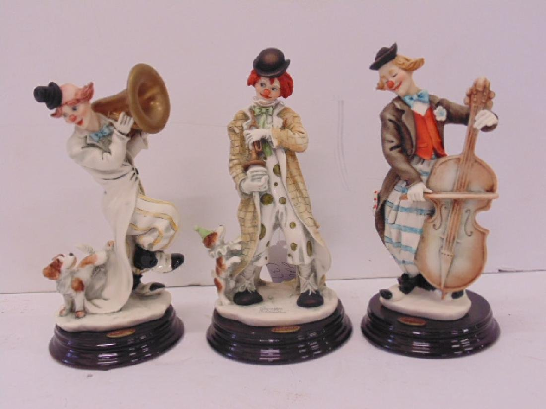 3 Giuseppi Armani clown figurines