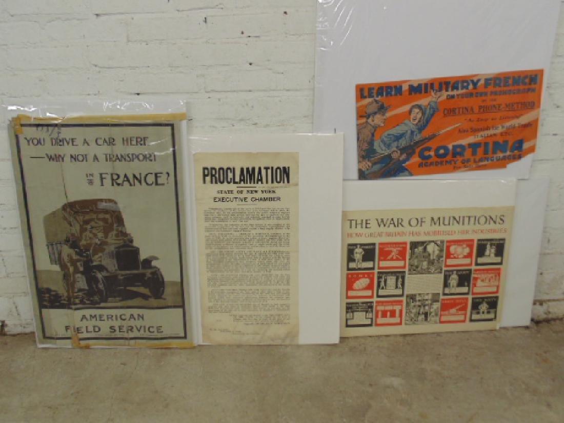Lot vintage WW1 & WW2 posters