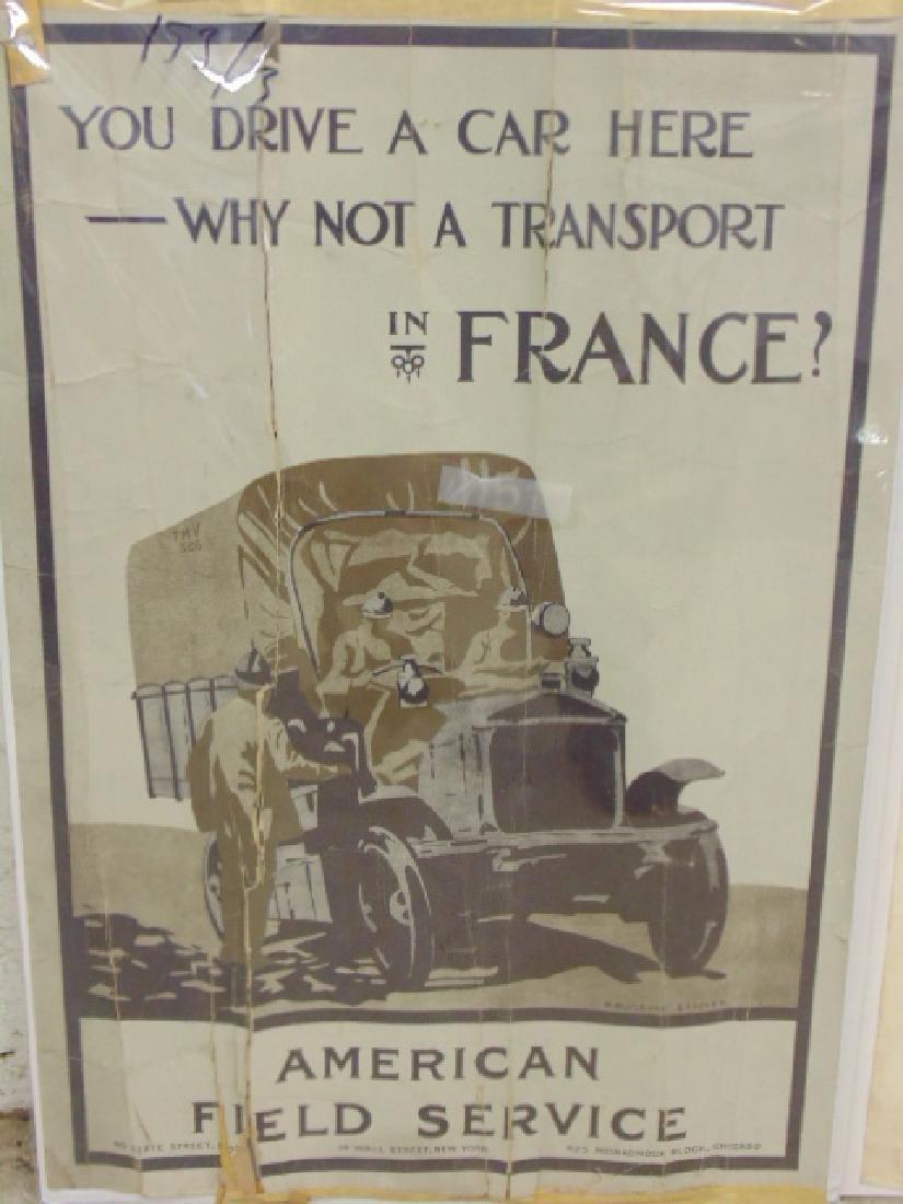Lot vintage WW1 & WW2 posters - 2