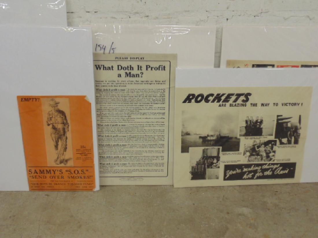 Lot vintage WW1 & WW2 posters - 4