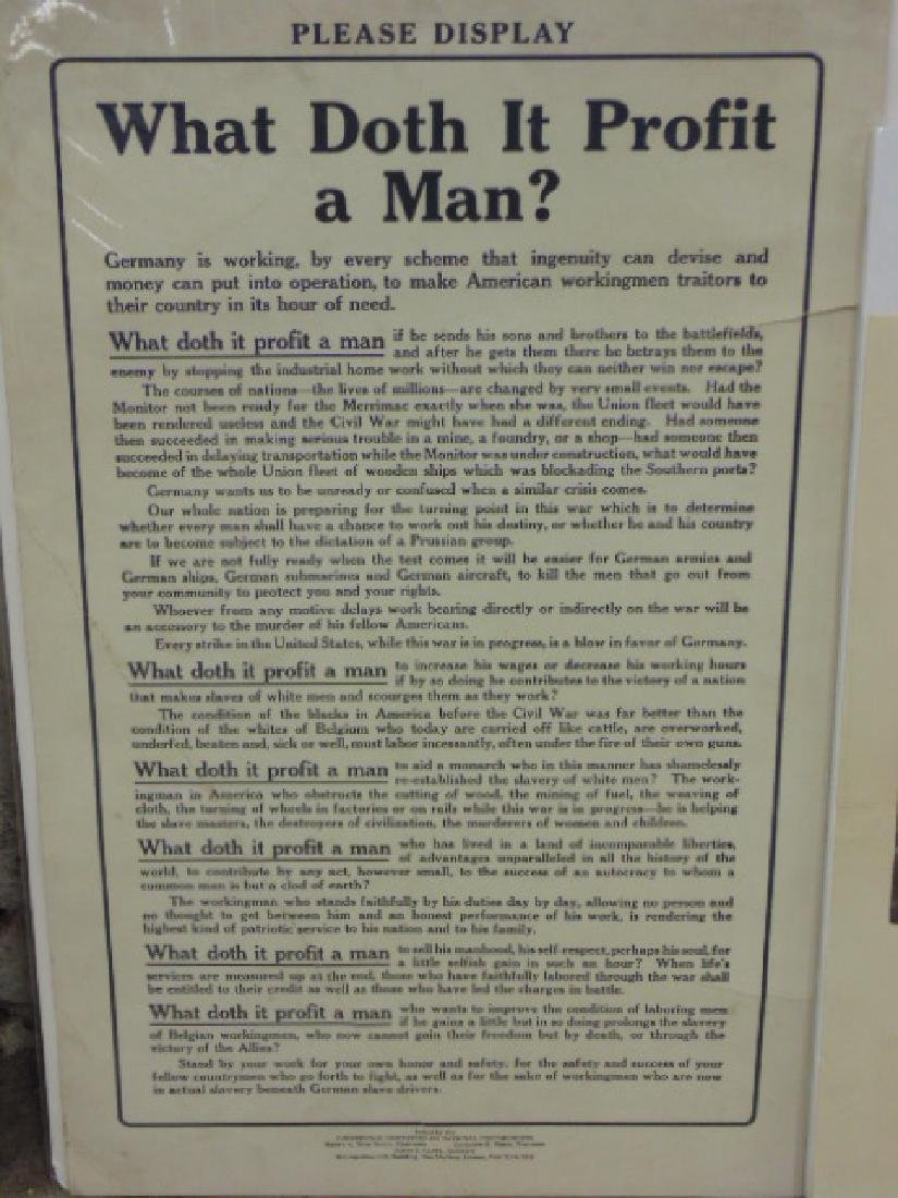 Lot vintage WW1 & WW2 posters - 6