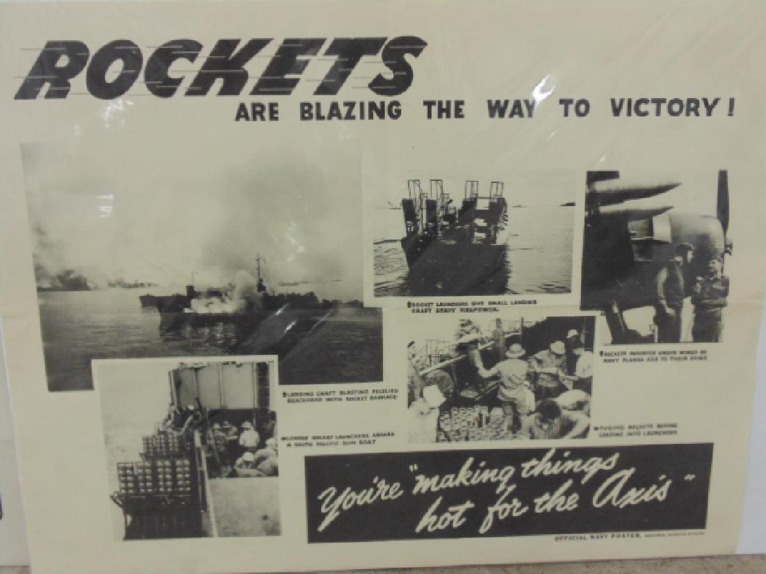 Lot vintage WW1 & WW2 posters - 7