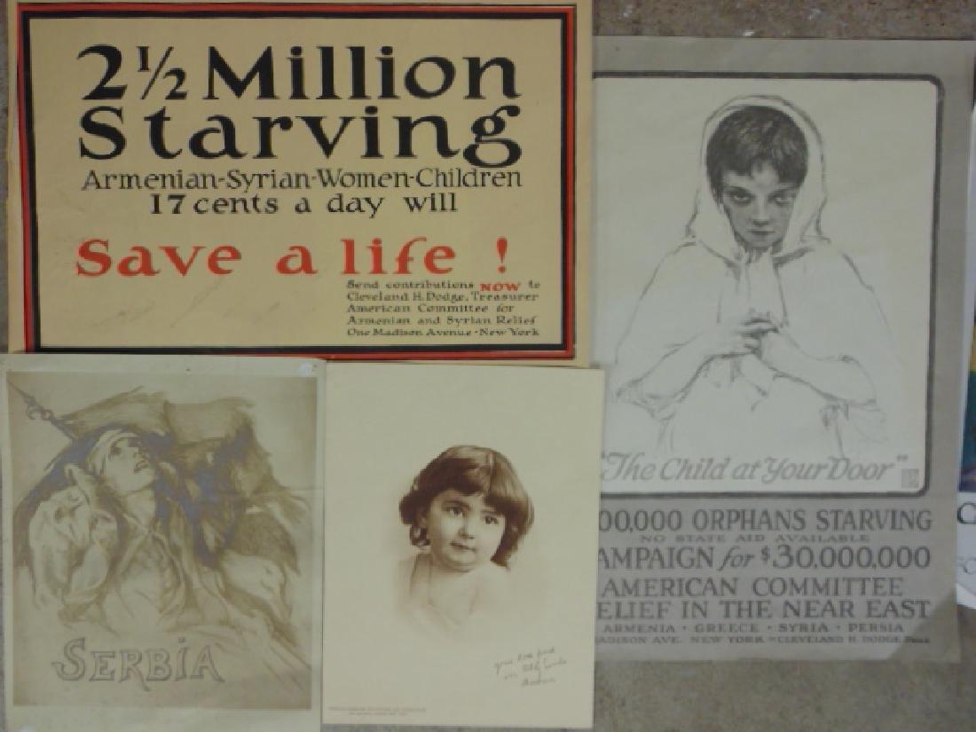 Lot unframed pamphlets & posters